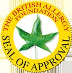 The Brittish Allergy Foundation Seal logo